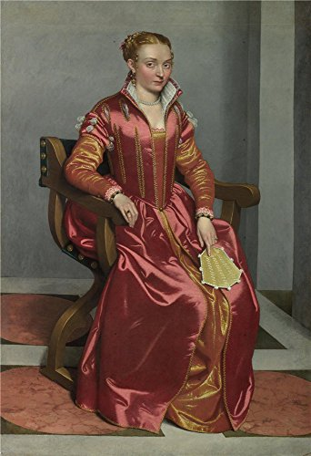 The Perfect Effect Canvas Of Oil Painting 'Giovanni Battista Moroni Portrait Of A Lady (La Dama In Rosso) ' ,size: 10 X 15 Inch / 25 X 37 Cm ,this High Resolution Art Decorative Canvas Prints Is Fit For Gym Decoration And Home Artwork And Gifts by Leo Brown
