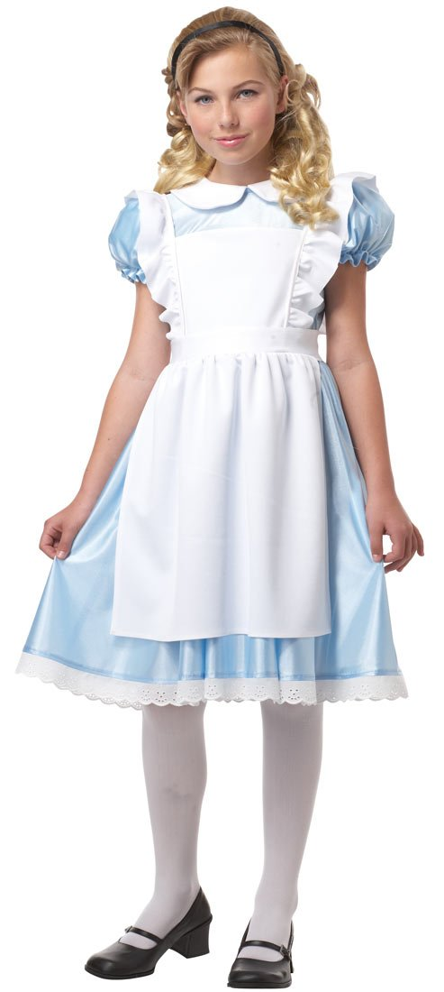 12 Size 10 Girls Alice in Wonderland Costume by California Costumes