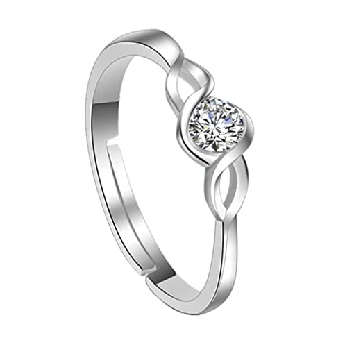 Jingyuu 1 Stuck Herz Verstellbarer Ring Damen Ring Hochzeit