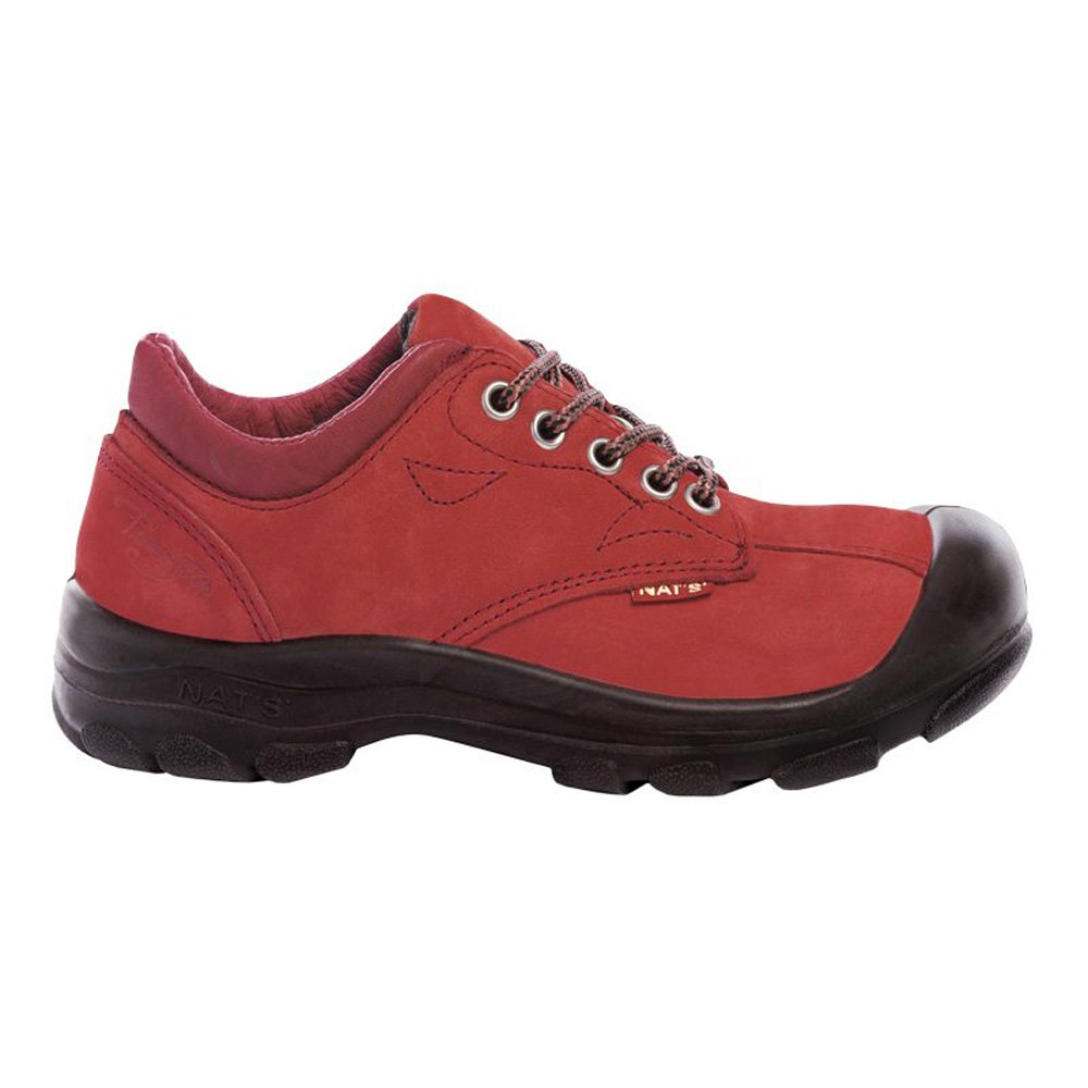 P&F Workwear Women's steel toe safety shoes | Red | 8