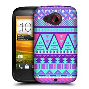 Head Case Designs Sugar-coated Aztec Candy Tribal Protective Snap-on Hard Back Case Cover for HTC Desire C by ruishername