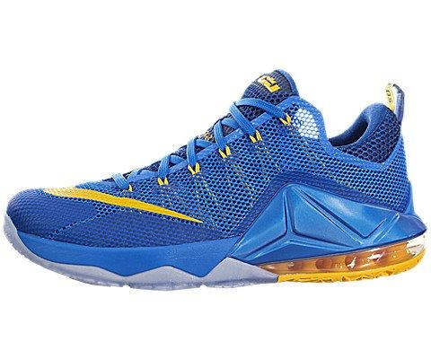 Nike Men's Lebron XII Low Photo Blue/Unvrsty Gold/Gym Bl Basketball Shoe 10.5 Men US