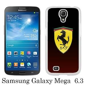 Ferrari Logo 4 White New Customized Samsung Galaxy Mega 6.3 i9200 i9205 Phone Case