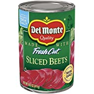 Del Monte Canned Fresh Cut Sliced Beets, 14.5-Ounce