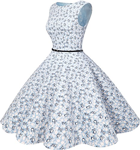 Bbonlinedress Rockabilly Vintage Party Cocktail Little 1950s Dress Flowers Swing Women's Retro 1wX1r