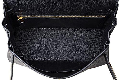 Body Padlock Black Top Cross Handbag Kiss Handbags Cherish Satchel Shoulder Handle Women's 0fqzna