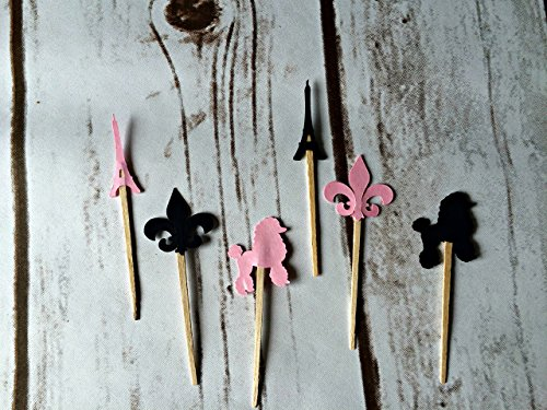 Paris Party Picks (set of 24) (Cut Die Cube)