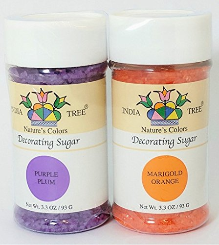 - India Tree All Natural Nature's Colors Decorating Sugars - Fall - 3.3 Ounce Bottles