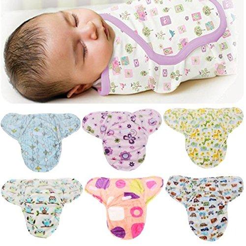 mark8shop doux pour nouveau-né bébé emmailloter SwaddleMe Couverture pour bébé Sac de couchage