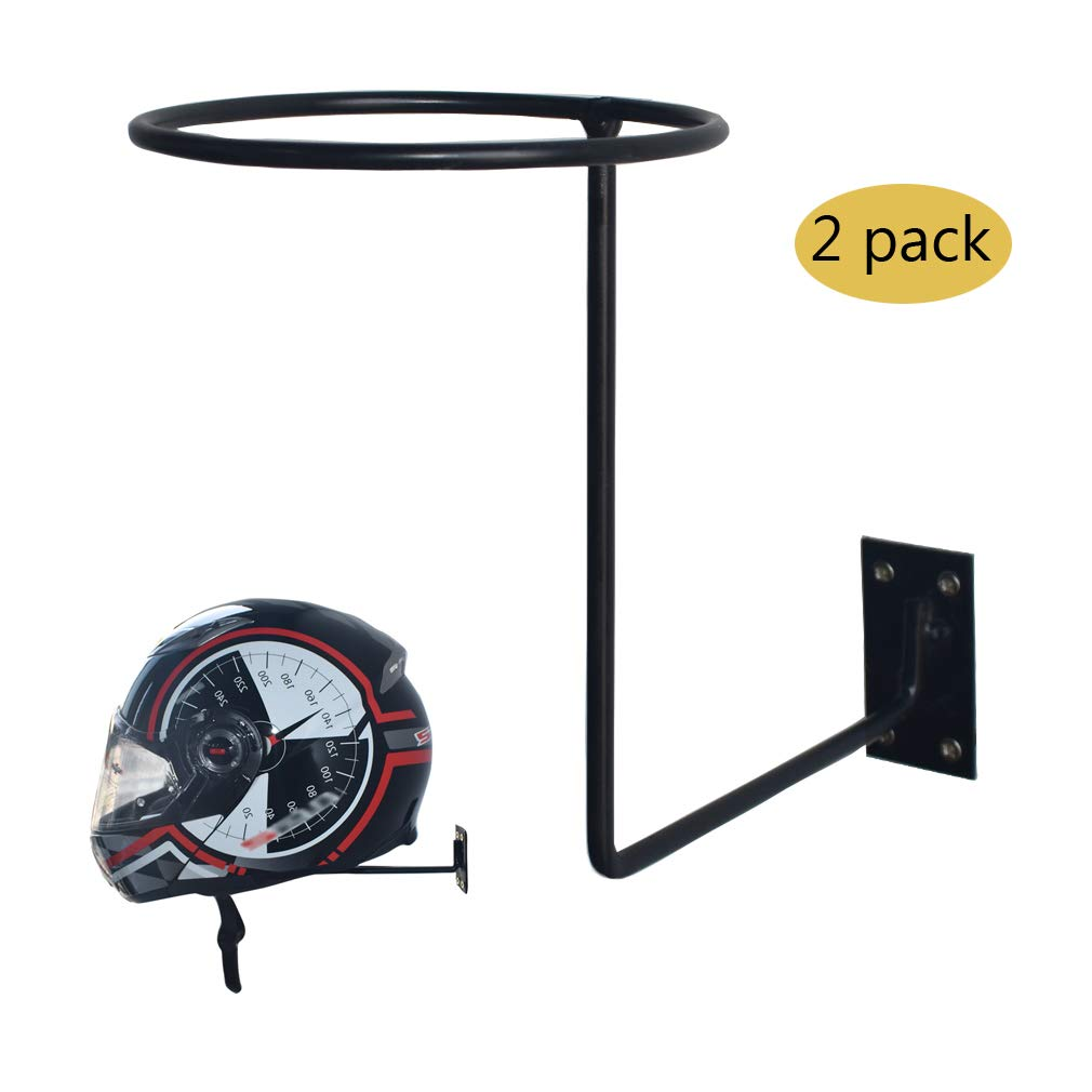 CHCYCLE Motorcycle Accessories Helmet Holder Jacket Hanger Wall Mounted Multifunctional Rack 2 Pack