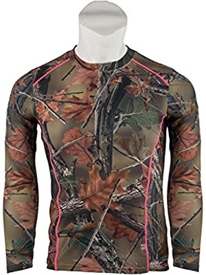 Womens Camo Impulse 4 Way Stretch Active Performance Long Sleeve T-Shirt