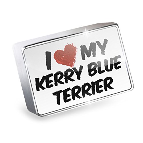 Dog Kerry Blue Charm Terrier (NEONBLOND Floating Charm I Love my Kerry Blue Terrier Dog from Ireland Fits Glass Lockets)