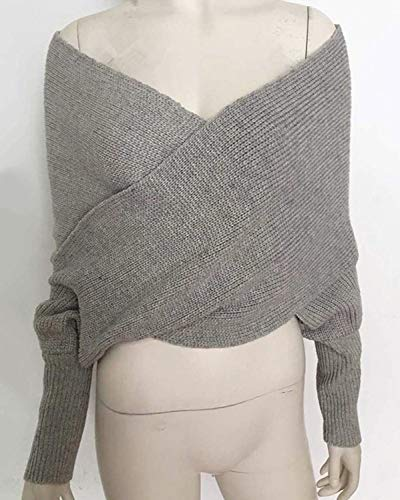 Hiver Automne Pull Crossover Longues Femme Cou BOLAWOO V Manches w7R4xtwq