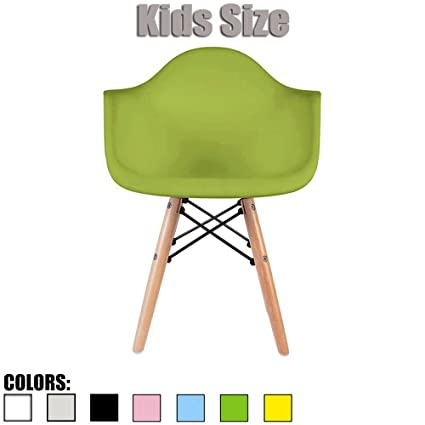 2xhome   Green   Kids Size Eames Armchair Eames Chair Green Seat Natural  Wood Wooden Legs