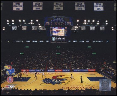 Allen Fieldhouse University of Kansas Jayhawks 2009 Art Poster PRINT Unknown -