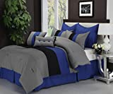 Impressions  8-Piece Luxurious Comforter King  Set, Florence, Blue