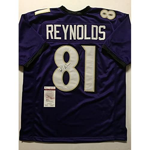 best website 96ac3 21abe Autographed/Signed Keenan Reynolds Baltimore Ravens Purple ...