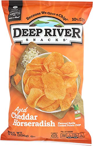 Price comparison product image StarSun Depot Aged Cheddar Horseradish Kettle Chips,  8 oz (1 Item only)
