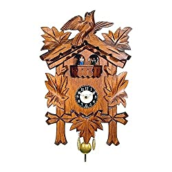 Alexander Taron Decorative Engstler Battery Operated Clock Mini Size with Music/Chimes 9.75H x 7W x 3.75D