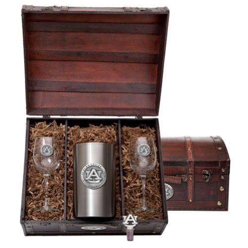 Auburn University Tigers Wine Gift Set by Heritage Metalwork