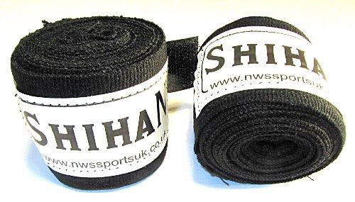 Boxing Hand Wraps - 'SHIHAN- VANQUISH - WRAPS ' BLACK 1 Pair ..SPECIAL PROMOTION PRICE...