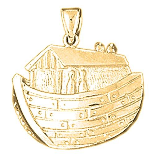 Jewels Obsession Noah's Ark Charm Pendant   14K Yellow Gold Noah's Ark Pendant - 25 mm ()