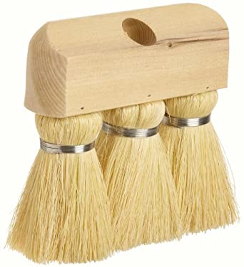 "Weiler 44010 Tampico Fiber Masonry and Applicator Knot Roof Brush, White Tampico Fill, Hardwood Handle, 3"" Head Width, 6-1/4"" Overall Length"