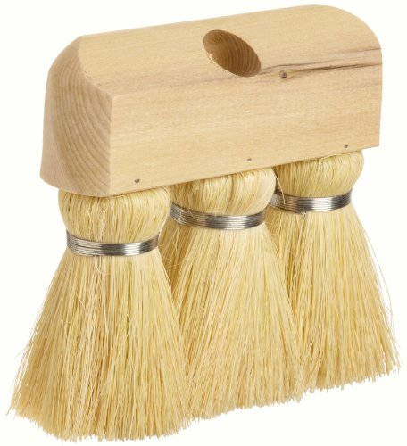 """Weiler 44010 Tampico Fiber Masonry and Applicator Knot Roof Brush, White Tampico Fill, Hardwood Handle, 3"""" Head Width, 6-1/4"""" Overall Length"""