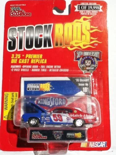 NASCAR Stock Rods No 101 Kingsford Charcoal #59  70 Chevelle NASCAR 50Th Ann Series 1998 Racing Champions New on Card Great Gift Idea
