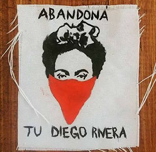 Amazon.com: Abandona tu Diego Rivera, Frida Kahlo patch ...