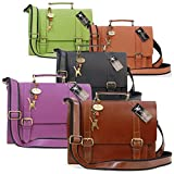 Catwalk Collection Leather Satchel   Canterbury
