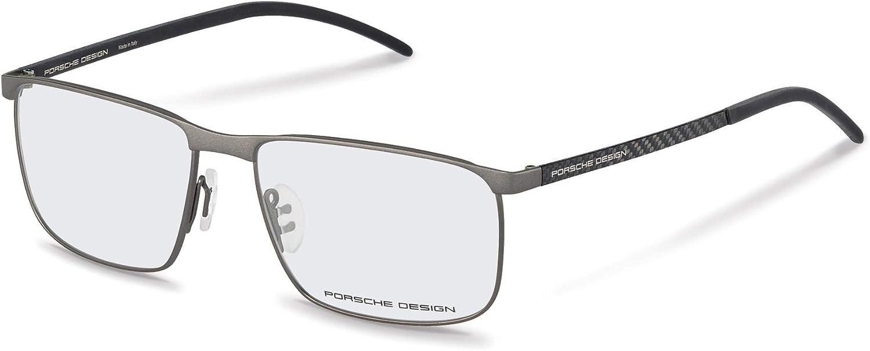 Porsche Design Titanium Eyeglasses P8324 C Black 57-14 Mens