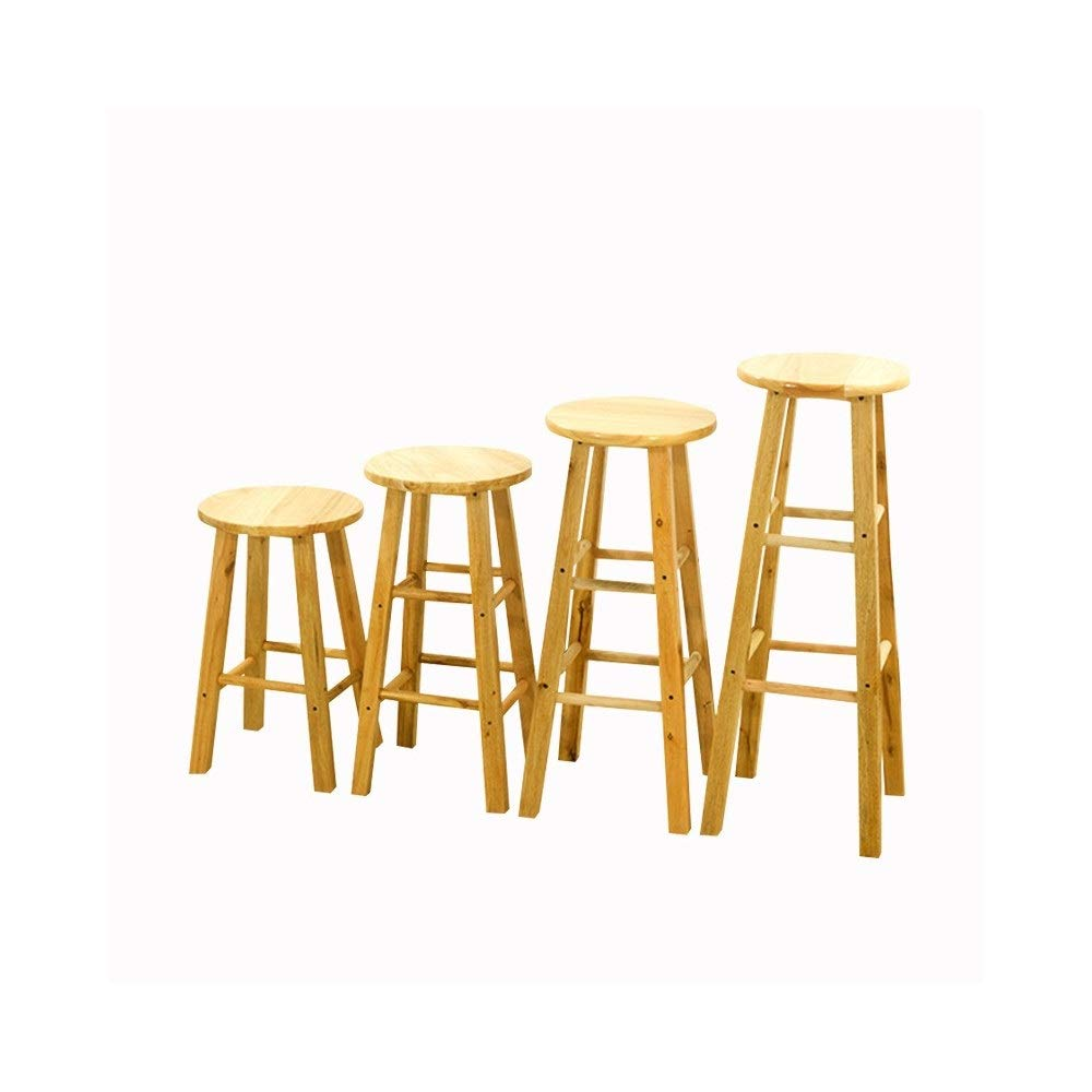 Height 80cm Barstools,Bar Stools Solid Wood Barstools Simple High Chair Bar Stool Front Desk Modern Oak High Stool (Size   Height 80cm)