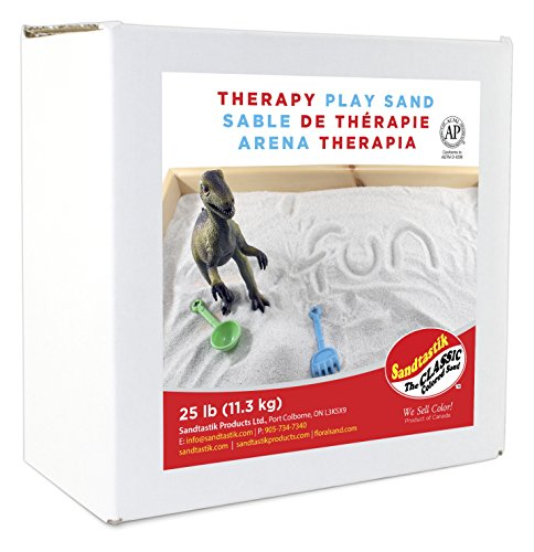 Sandtastik 25 Pound Non-Toxic Less Dust Indoor Coarse Therapy Play Sand (Kids Play Sand)