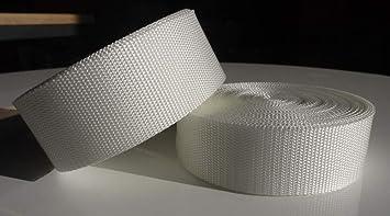 10m PP Gurtband wei/ß 15mm breit UV 1,4mm stark