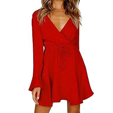 896e5aa04df Robe Jupe Automne Hiver Casual Chic Vintage Luxe LéGer ÉLéGant Bon Marché  2018 Nouvelle Robes de soirée bohème Solide à Manches Longues pour Femmes   ...