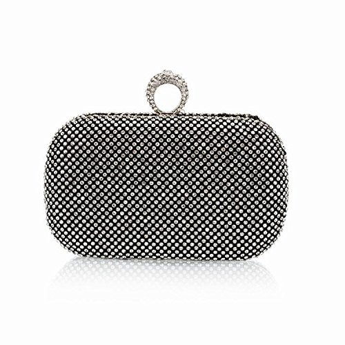 Metal Special Crown Diamonds Luxurious Women Evening Bags Small Day Clutch Chain Shoulder Velvet Evening Bags,Ym1000Black