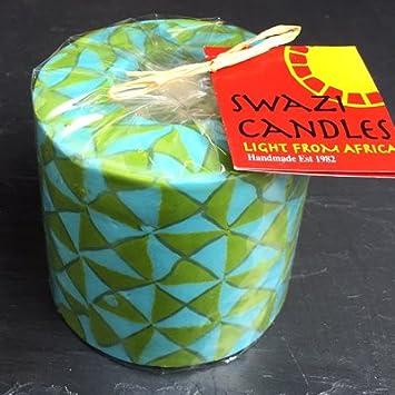 c33e9131a722 Djembele pilier Bougie du Swaziland – Commerce équitable, faite à la main,  réutilisable.