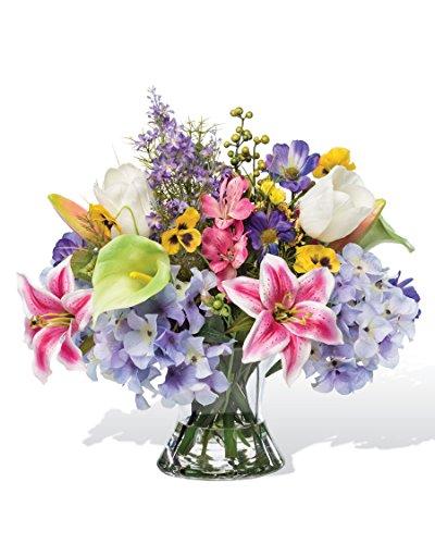 Calla Lily Lily Centerpiece - Petals Silkflowers Calla Lily, Tulip & Lily Silk Centerpiece