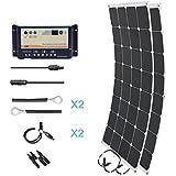 HQST 200 Watt 12 Volt Monocrystalline Solar Marine Kit