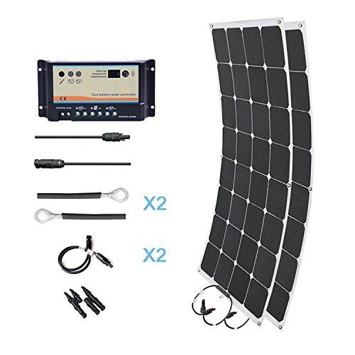 HQST 200 Watt 12 Volt Monocrystalline Solar Marine Kit by HQST