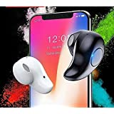 EZ-TECH, Mini Bluetooth Headphone with High Sensitivity Voice Calls with Mic for Samsung OnePlus Nokia Xiaomi MI Redmi and All Smartphones (Black)