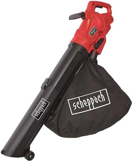 Scheppach Aspiradora eléctrica de hojas y soplador de hojas con función trituradora LB2600E (3000 W, bolsa de recogida de 45 L, potencia de aire: 13 m³/min, velocidad del aire: 160-270 km/h)