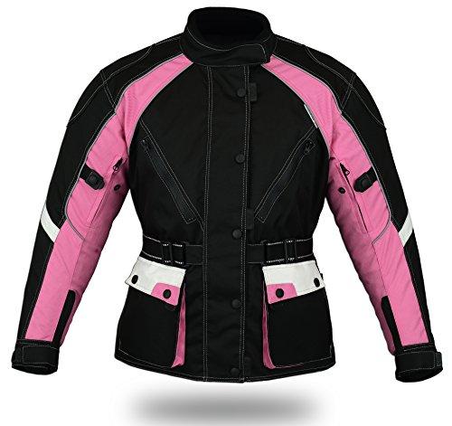 Jazz Pink - Damen Motorradkombi Jacke & Hose - Cordura wasserfest CE - Protektoren