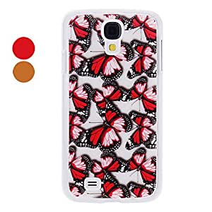 GHK - Beautiful Flying Butterfly Pattern Hard Case for Samsung Galaxy S4 I9500 (Assorted Colors) , Red