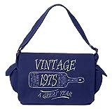 Tenacitee Aged Like a Fine Wine 1975 Royal Blue Brushed Canvas Messenger Bag