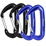 12 KN Snag-Free 4 Pack Wire Gate Carabiners Biners – Rated 2,645 Pounds for Hammocks, Camping, Backpacking, Home, Rv, Fishing, Hiking, Traveling and General Utility Use