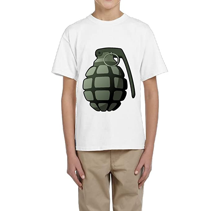 bb6b01cb Amazon.com: Green Hand Grenade Teen Short Sleeve T-Shirt Graphic Tees for  Boys: Clothing