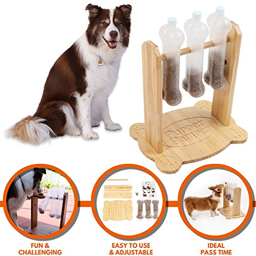 Best Buddy Poodle (Pupper Pamper Interactive Dog Toy - Treat Dispensing Dogs Puzzle Toys – Anxiety Relief Smart Dog Game for Medium/Large Dogs – Refillable Food Tough Dog Toys for Training)