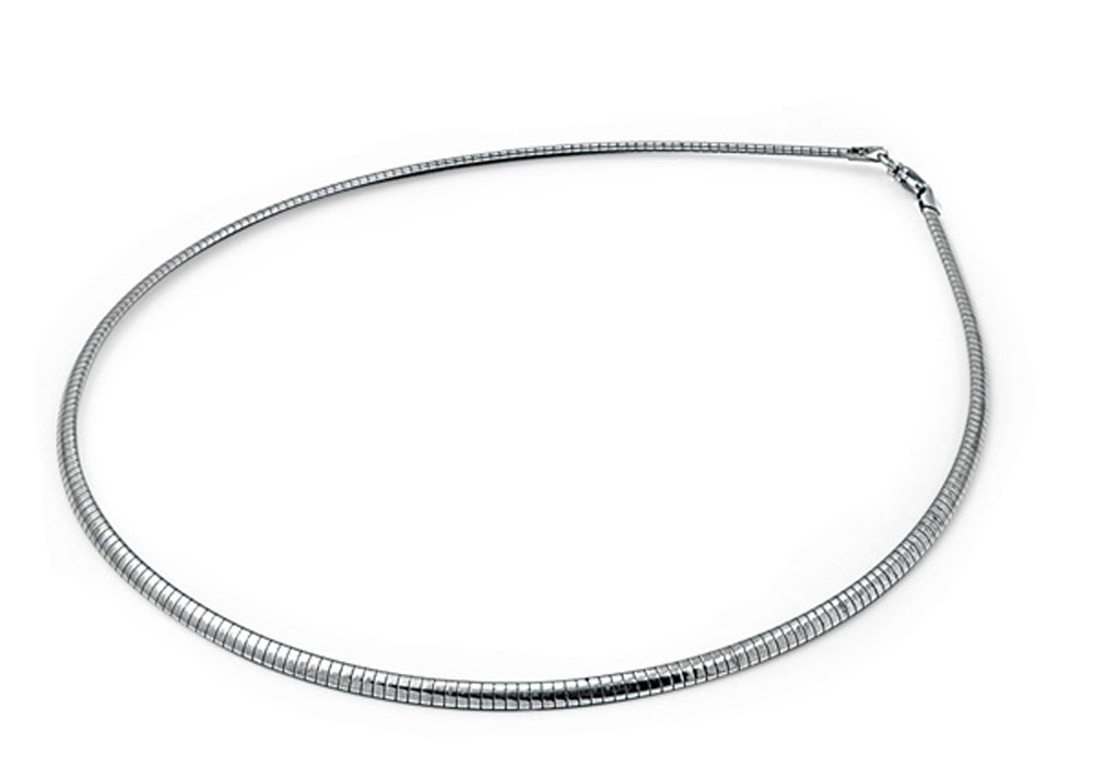 Sterling Silver Omega Chain 3mm Solid 925 Italy New Necklace 16''